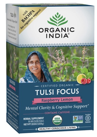 Image of Tulsi Focus Tea Raspberry Lemon