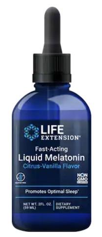 Image of Melatonin 3 mg Liquid (Fast-Acting) Citrus Vanilla