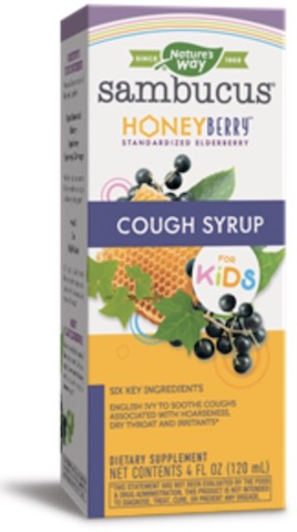 Image of Sambucus Cough Syrup for KIDS Honey Berry