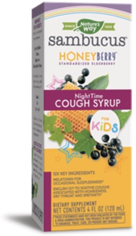 Image of Sambucus Cough Syrup NighTime for KIDS Honey Berry