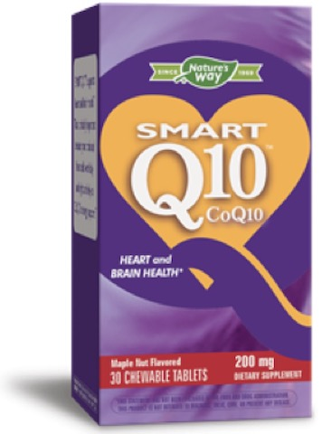 Image of Smart Q10 CoQ10 200 mg Chewable Maple Nut