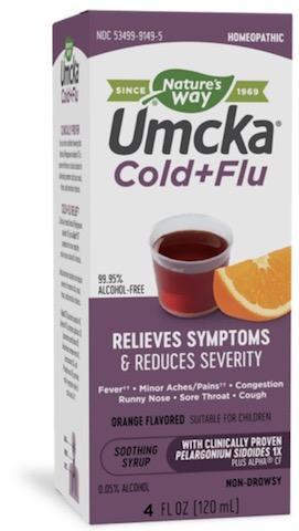 Image of Umcka Cold+Flu Syrup Orange (Fructose Free)