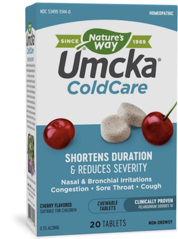 Image of Umcka Cold Care Chewable Cherry