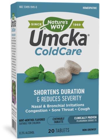 Image of Umcka Cold Care Chewable Mint-Menthol