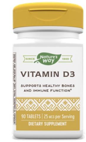 Image of Vitamin D3 25 mcg (1000 IU)