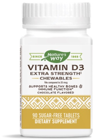 Image of Vitamin D3 50 mcg (2000 IU) Extra Strength Chewable Chocolate