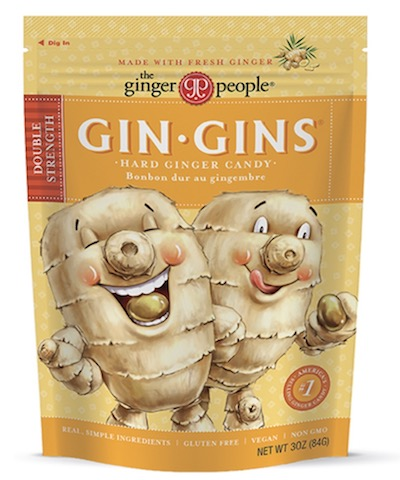 Image of Gin Gins Hard Ginger Candy Double Strength Bag