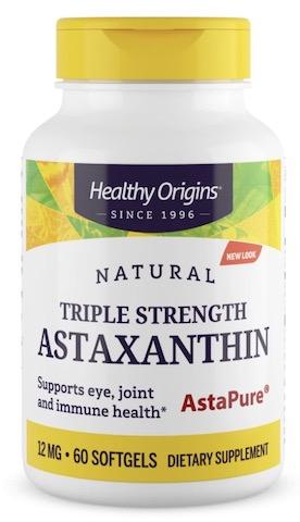 Image of Astaxanthin 12 mg Triple Strength