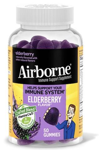 Image of Airborne Gummies Elderberry