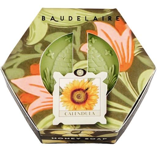 Image of Honey Soap Bar Hex Box Calendula
