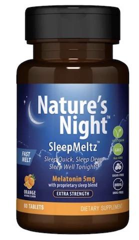 Image of Sleep Meltz Extra Strength (Melatonin 5 mg ) Orange