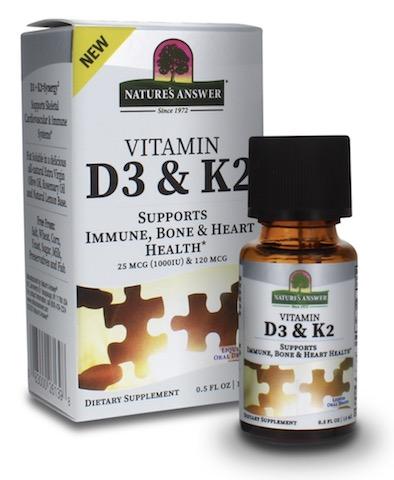 Image of Vitamin D3 & K2 Drops 25/125 mcg