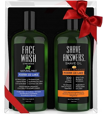 Image of Face Wash Natural Mint + Shave Answers Shave Oil Sweet Orange