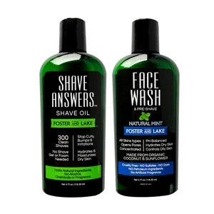 Image of Face Wash Natural Mint + Shave Answers Shave Oil Unscented
