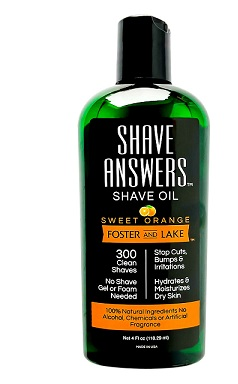 Image of Shave Oil Shave Answers Sweet Orange