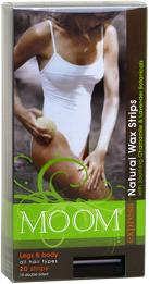Image of MOOM Express Natual Wax Strips Leg & Body