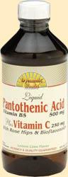 Image of Liquid Pantothenic Acid plus Vitamin C