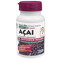 Image of Acai 600 mg, Herbal Actives - Extended Release