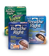 Image of Breathe Right Nasal Strips Tan Small/Medium