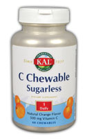 Image of C Chewable Sugarless 500 mg Orange