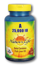 Image of Vitamin A 25,000 IU (Beta Carotene/Fish Liver Oil)