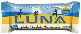 Image of Luna Bar Organic White Chocolate Macadamia