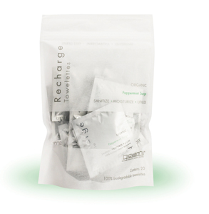 Image of Sanitizing Towelettes Recharge Peppermint Surge