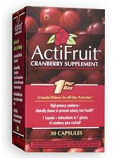 Image of ActiFruit Cranberry supplement with Cran-Max Capsule