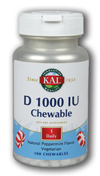 Image of D2 1000 IU Chewable Peppermint