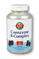 Image of Coenzyme B-Complex Chewable Cocoa Mint Flavor