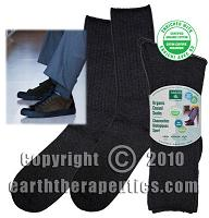 Image of Organic Casual Socks for Men Charcoal