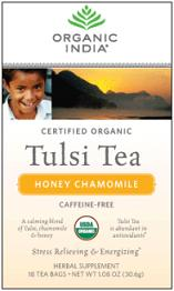 Image of Tulsi Tea Organic Caffeine-Free Honey Chamomile