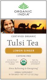 Image of Tulsi Tea Organic Caffeine-Free Lemon Ginger