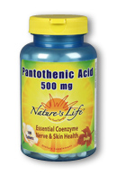 Image of Pantothenic Acid 500 mg
