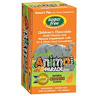 Image of Sugar Free Animal Parade Chewable Orange