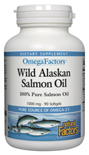 Image of OmegaFactors Wild Alaskan Salmon Oil 1300 mg