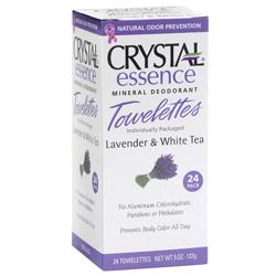 Image of Crystal Essence Mineral Deodorant Towelettes Lavender & White Tea