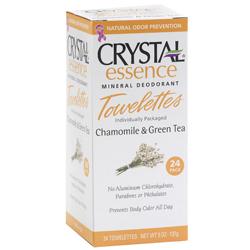 Image of Crystal Essence Mineral Deodorant Towelettes Chamomile & Green Tea