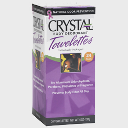 Image of Crystal Essence Mineral Deodorant Towelettes Unscented