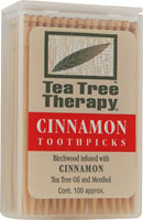 Image of Tea Tree Therapy Toothpicks Cinnamon