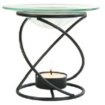 Image of Aromatherapy Candle Lamp Spiral (Black)