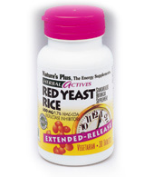 Image of Red Yeast Rice 600 mg, Herbal Actives - Extended Release