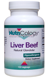 Image of Natural Glandular Liver Beef 500 mg
