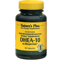 Image of DHEA 10 mg with Bioperine