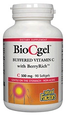 Image of BioCgel Buffered Vitamin C with BerryRich 500 mg