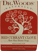 Image of Dr. Woods Bar Soap Red Currant Clove Raw Shea Butter