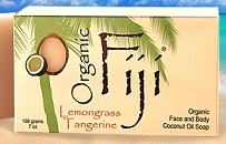 Image of Coconut Oil Soap Bar Organic Lemongrass Tangerine