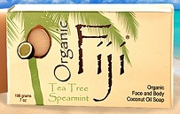 Image of Coconut Oil Soap Bar Organic Tea Tree Spearmint