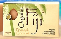 Image of Coconut Oil Soap Bar Organic Pineapple Coconut