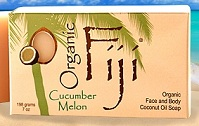 Image of Coconut Oil Soap Bar Organic Cucumber Melon